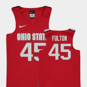 Kids Ohio State #45 Connor Fulton Red Replica College Basketball Jersey 781198-675