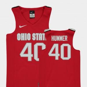 Kids OSU Buckeyes #40 Daniel Hummer Red Replica College Basketball Jersey 218428-892