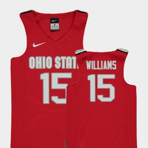 Youth(Kids) Ohio State #15 Kam Williams Red Replica College Basketball Jersey 487510-659