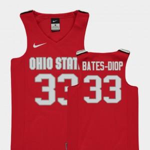 Kids Buckeyes #33 Keita Bates-Diop Red Replica College Basketball Jersey 993188-264